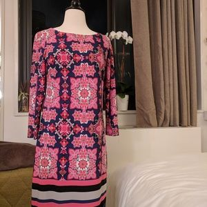 Vince Camuto Long Sleeve Printed Dress